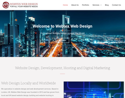Screenshot of the Webtexweb Design homepage