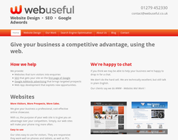 Screenshot of the Webuseful Solutions Ltd homepage