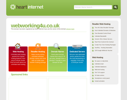 Screenshot of the Web Working for You Ltd homepage