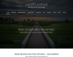 Screenshot of the Westfourstreet Web Design homepage