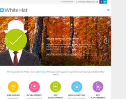 Screenshot of the White Hat Web Design homepage
