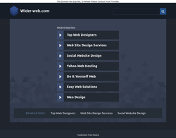 Screenshot of the wider web homepage