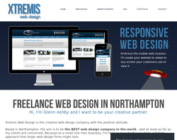Screenshot of the Xtremis Web Design homepage