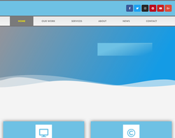 Screenshot of the Yellow Fly Design - Glynne Kirkham homepage