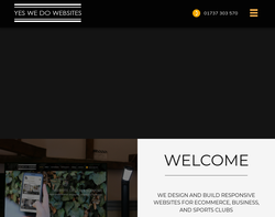 Screenshot of the Yes, We Do Websites homepage