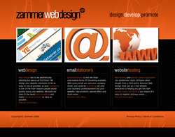 Screenshot of the Zammer Web Design homepage
