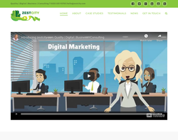 Screenshot of the Zest City homepage