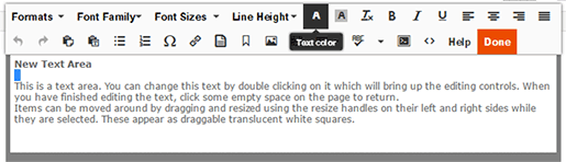 Text Editor Toolbar