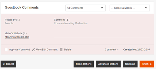 Comments Awaiting Approval