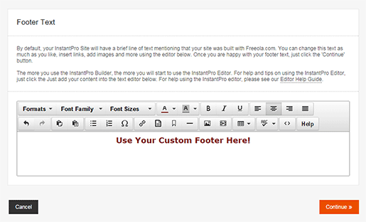 Editing The Footer