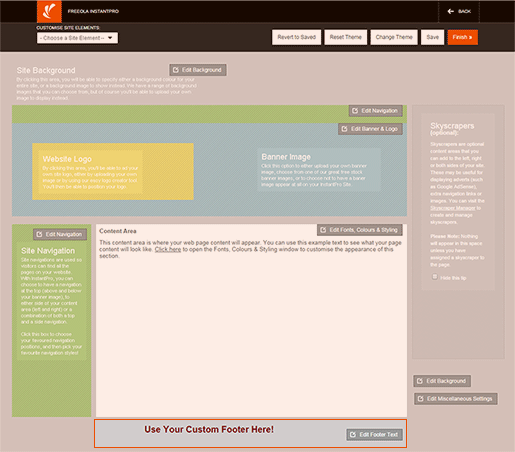 Site footer Example